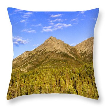 Alaska Mountains Throw Pillow