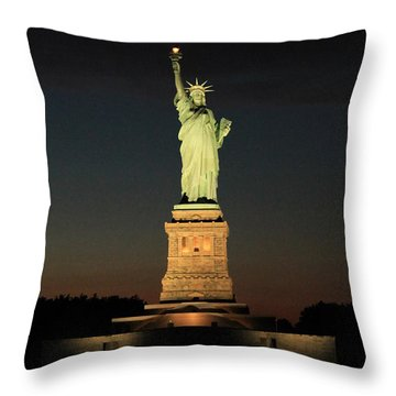 All Lit Up Throw Pillow by Catie Canetti