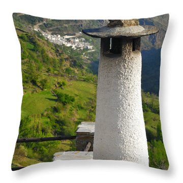 Alpujarras In Granada Throw Pillow by Guido Montanes Castillo