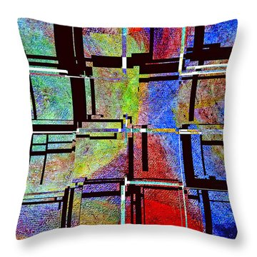 Altered Circles Throw Pillow by Jim Whalen