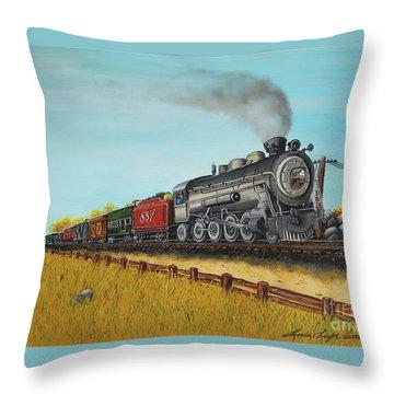 American Express Throw Pillow by Linda Simon