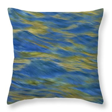American River Abstract Throw Pillow