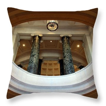 Throw Pillow featuring the photograph An Oculus by Cora Wandel