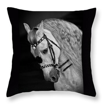 Throw Pillow featuring the photograph Andalusian D9098 by Wes and Dotty Weber