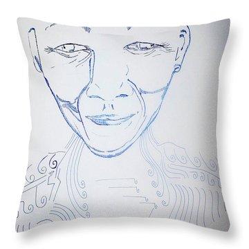 Angel Madiba - Nelson Mandela Throw Pillow by Gloria Ssali