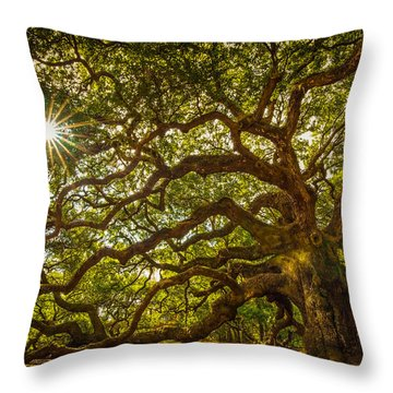 Angel Oak Throw Pillow by Serge Skiba