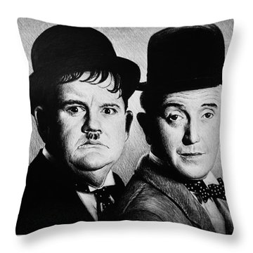 Another Fine Mess Throw Pillow