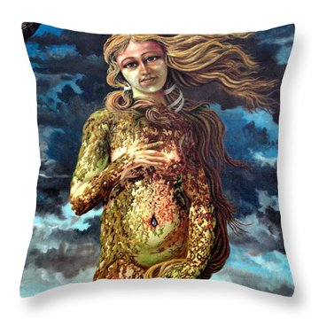 Aphrodite-venus Throw Pillow by Genio GgXpress
