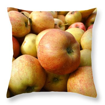 Apples Throw Pillow by Olivier Le Queinec