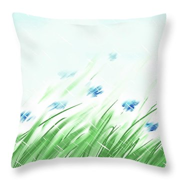 April Shower Throw Pillow