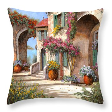 Archi E Fiori Throw Pillow