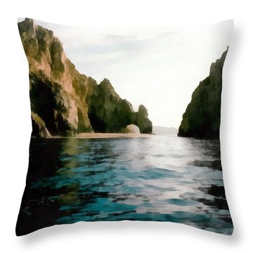 Archway At Cabo Throw Pillow