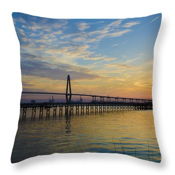 Magical Blue Skies Throw Pillow by Dale Powell