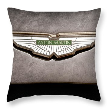 Aston Martin Emblem Throw Pillow