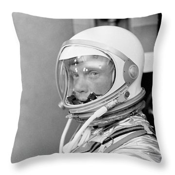 Astronaut John Glenn Throw Pillow by War Is Hell Store