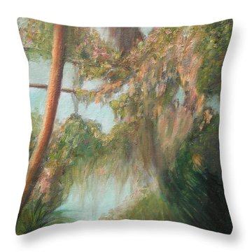 At Cross Creek Throw Pillow