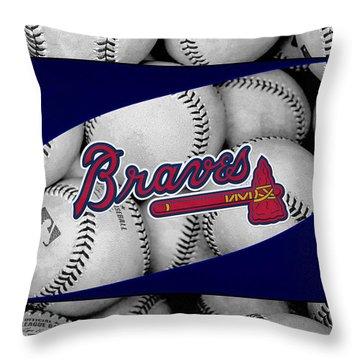 Atlanta Braves Throw Pillow
