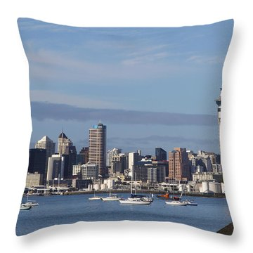 Auckland Throw Pillow by Les Cunliffe