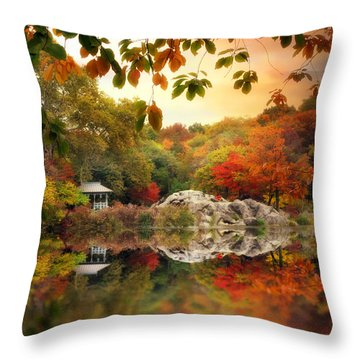 Autumn At Hernshead Throw Pillow