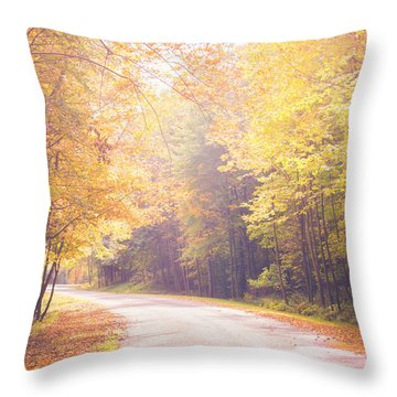 Autumn Light Throw Pillow by Sara Frank