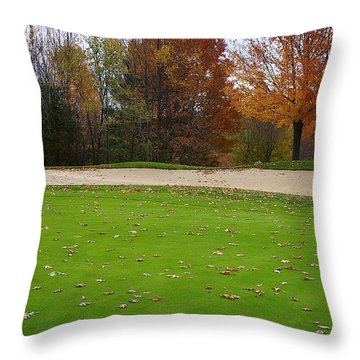 Throw Pillow featuring the photograph Autumn On The Green by Randy Pollard