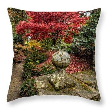 Autumn Path Throw Pillow by Adrian Evans