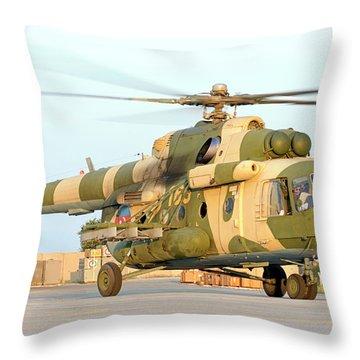 Azerbaijan Air Force Mi-17 Helicopter Throw Pillow