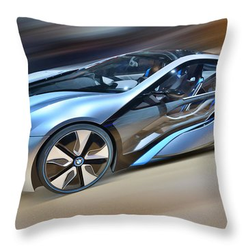 B M W  Edrive I8  Concept  2014 Throw Pillow