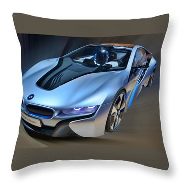 B M W  I8  Concept  2014 Throw Pillow