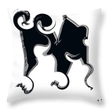 B W  Throw Pillow by Sir Josef - Social Critic -  Maha Art
