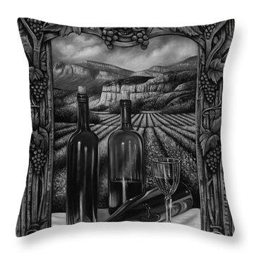 Bacchus Vineyard Throw Pillow by Ricardo Chavez-Mendez