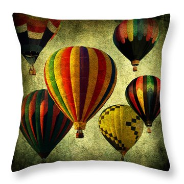Balloons Throw Pillow by Mark Ashkenazi