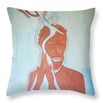 Baptism Of The Lord Jesus Throw Pillow by Gloria Ssali