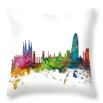 Paris Skyline Throw Pillows