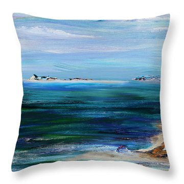 Barrier Islands Throw Pillow by Regina Valluzzi