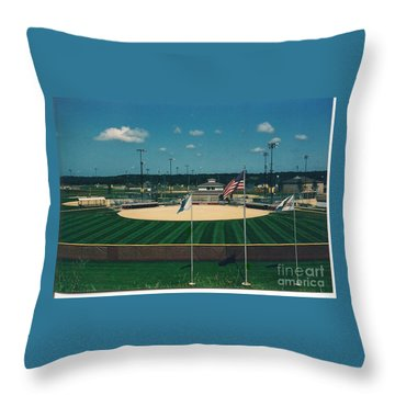 Baseball Diamond Throw Pillow
