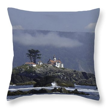 Throw Pillow featuring the photograph Battery Point Lighthouse by Betty Depee