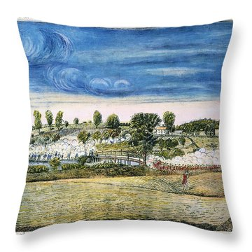 Battle Of Concord, 1775 Throw Pillow by Granger