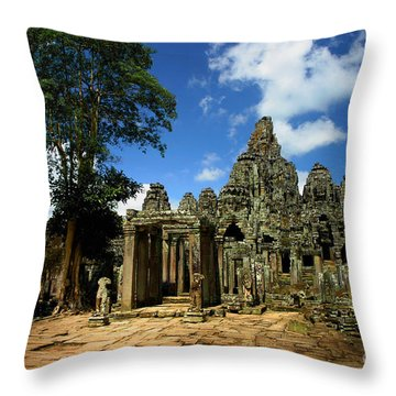 Bayon Temple View From The East Throw Pillow