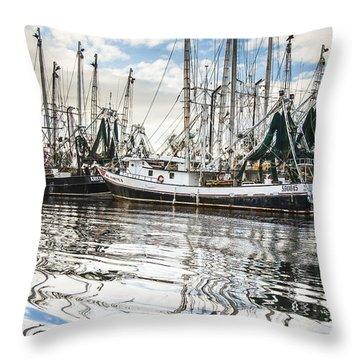 Bayou Labatre' Al Shrimp Boat Reflections Throw Pillow