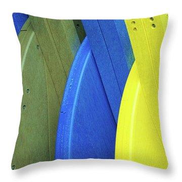 Beach Chair Palette  Throw Pillow by Allen Beatty