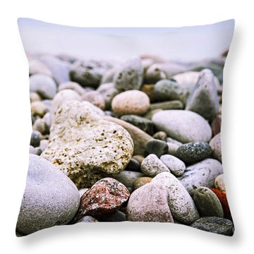 Colorful Rocks Throw Pillows