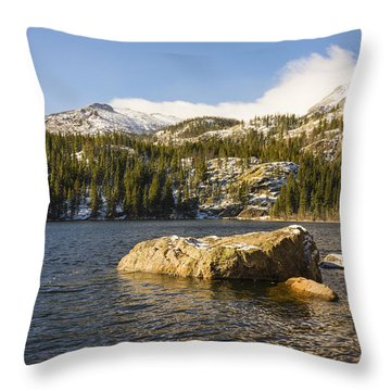 Bear Lake - Rocky Mountain National Park Colorado Throw Pillow by Brian Harig