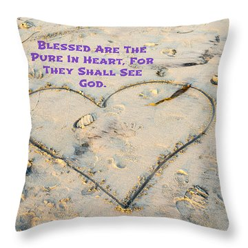 Beatitudes Throw Pillow