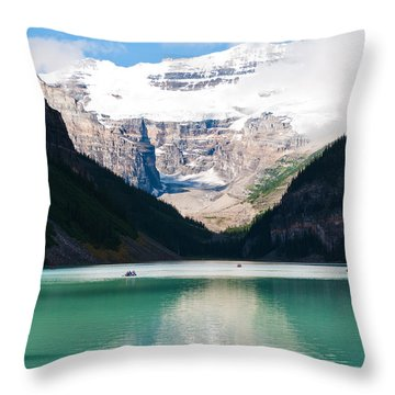 Throw Pillow featuring the photograph Beautiful Lake Louise by Cheryl Baxter