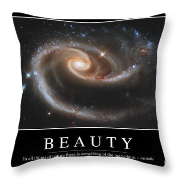 Beauty Inspirational Quote Throw Pillow by Stocktrek Images