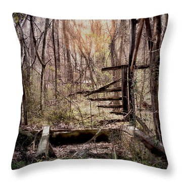 Throw Pillow featuring the photograph Been There by Bonnie Willis