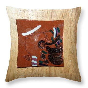 Bella - Tile Throw Pillow by Gloria Ssali