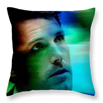 Ben Affleck Throw Pillow by Marvin Blaine