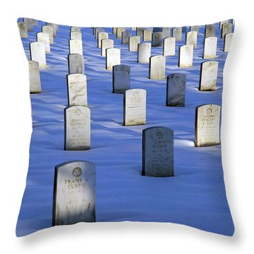 Throw Pillow featuring the photograph Beneath The Snow by Cora Wandel